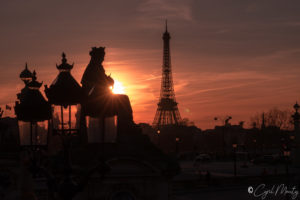 Cyril Mouty Photograhy sunset paris eiffel tower
