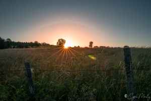 Auvergne sunrise campagne countryside