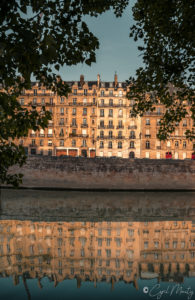 paris seine reflection building architecture