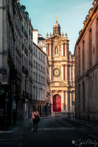 Street paris architecture church